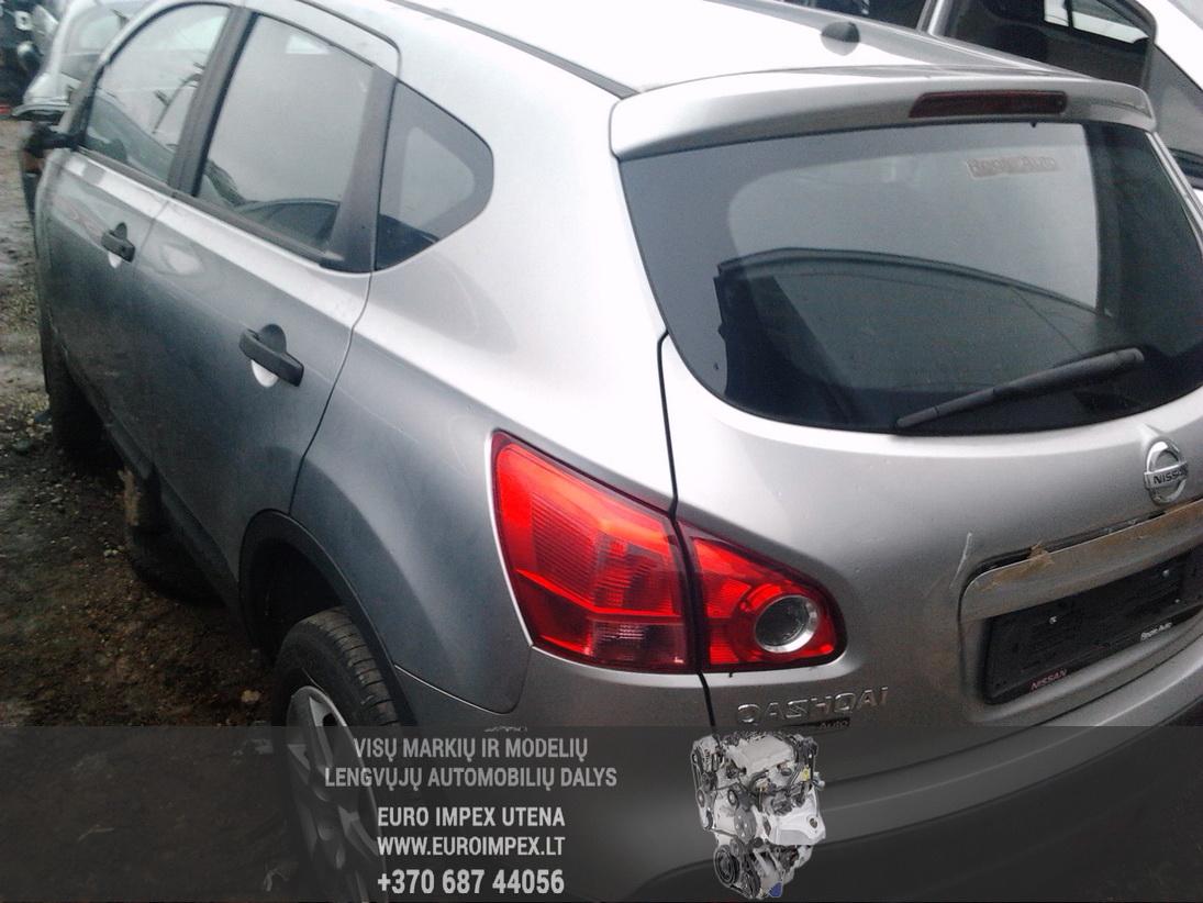 Naudotos automobilio dalys Nissan QASHQAI 2009 1.6 Mechaninė Visureigis 4/5 d. Pilka 2014-1-08