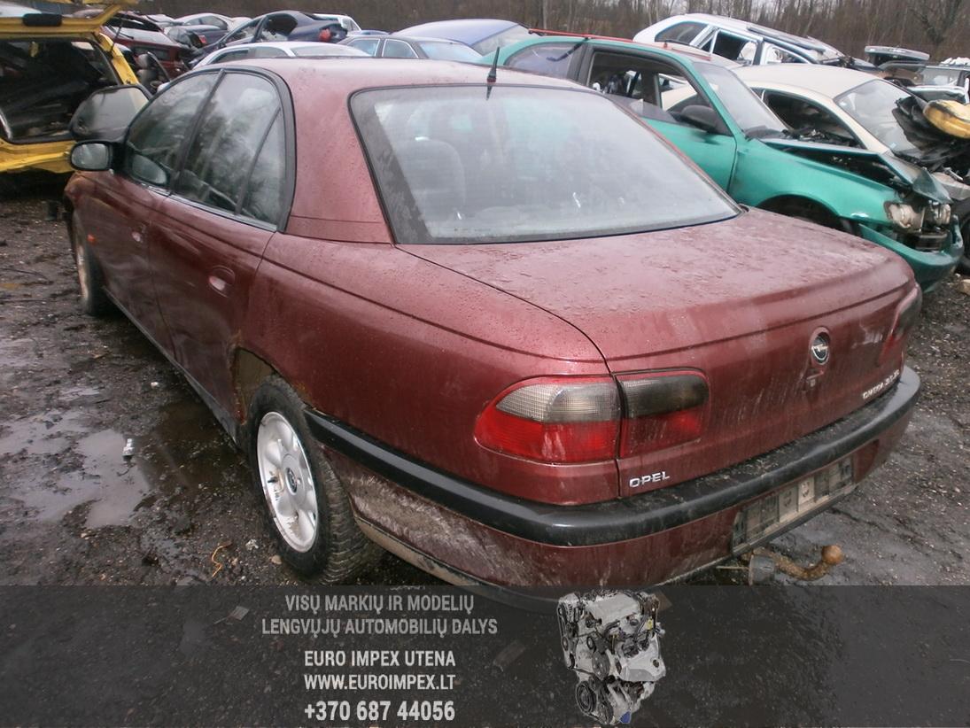Naudotos automobilio dalys Opel OMEGA 1997 2.5 Mechaninė Sedanas 4/5 d. Raudona 2014-1-06