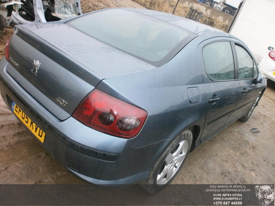 Naudotos automobilio dalys Peugeot 407 2005 2.0 Mechaninė Sedanas 4/5 d. Pilka 2014-2-19