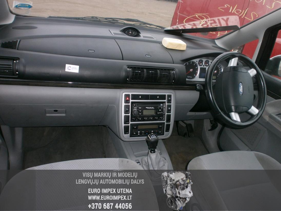 Naudotos automobilio dalys Ford GALAXY 2001 2.3 Mechaninė Vienatūris 4/5 d. Sidabrine 2014-2-03