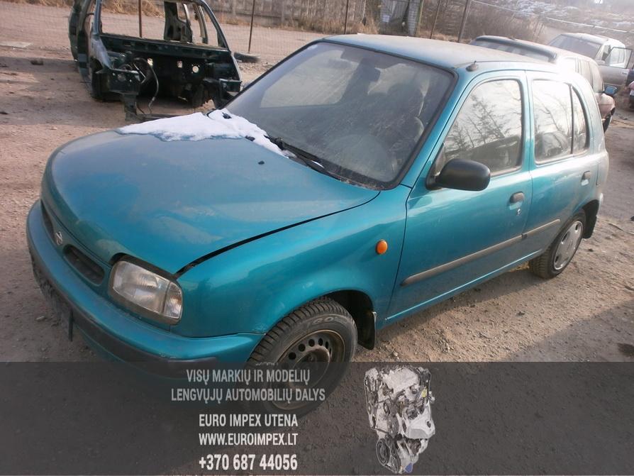 Naudotos automobilio dalys Nissan MICRA 1996 1.3 Automatinė Hačbekas 4/5 d. Žalia 2014-2-06