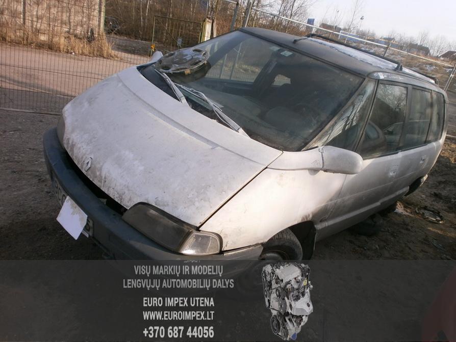 Naudotos automobilio dalys Renault ESPACE 1995 2.1 Mechaninė Vienatūris 4/5 d. Balta 2014-2-06