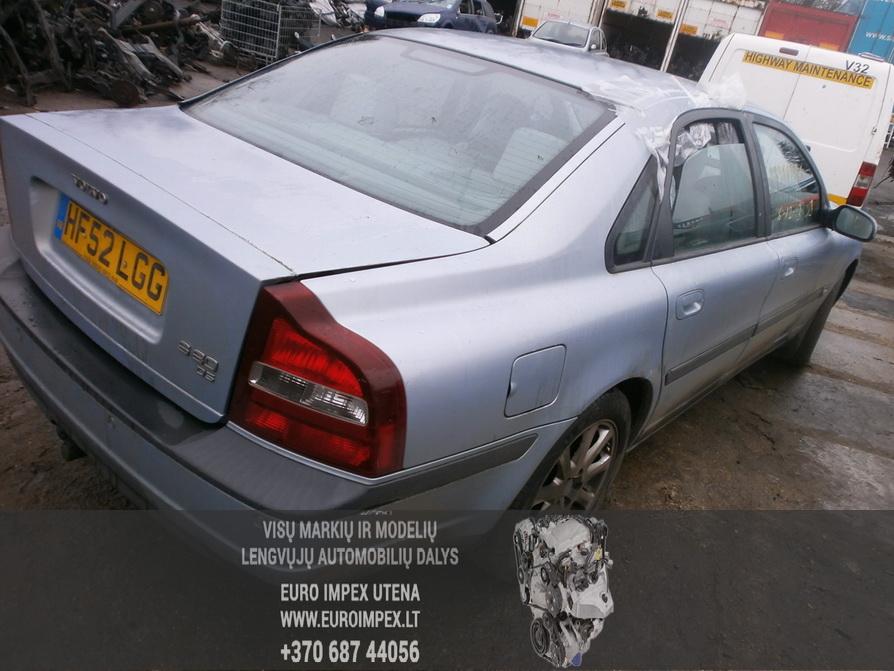 Naudotos automobilio dalys Volvo S80 2002 2.4 Mechaninė Sedanas 4/5 d. Pilka 2014-2-10