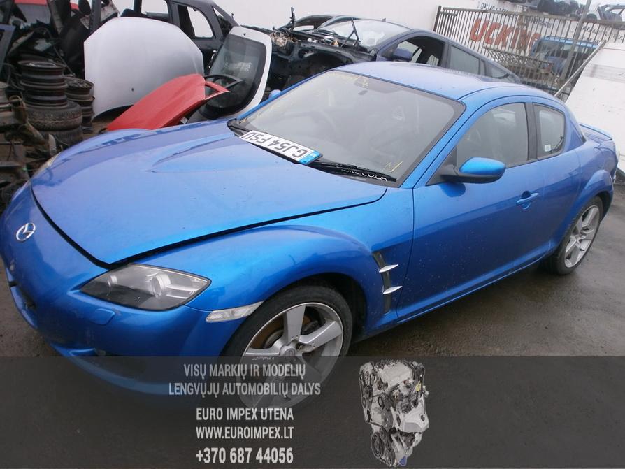 Naudotos automobilio dalys Mazda RX-8 2004 2.6 Mechaninė Sedanas 4/5 d. Melyna 2014-2-10