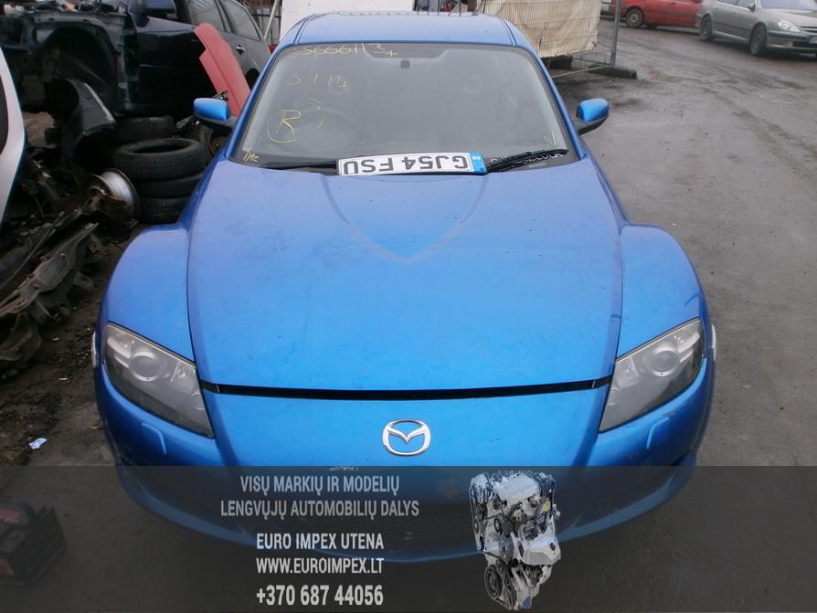 Naudotos automobiliu dallys Foto 2 Mazda RX-8 2004 2.6 Mechaninė Sedanas 4/5 d. Melyna 2014-2-10 A1341