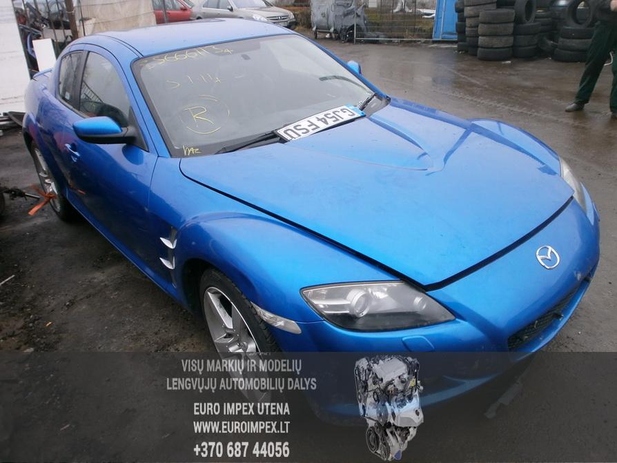 Naudotos automobiliu dallys Foto 3 Mazda RX-8 2004 2.6 Mechaninė Sedanas 4/5 d. Melyna 2014-2-10 A1341