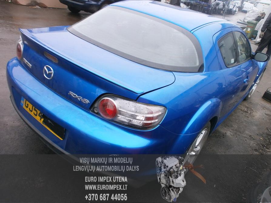 Naudotos automobiliu dallys Foto 7 Mazda RX-8 2004 2.6 Mechaninė Sedanas 4/5 d. Melyna 2014-2-10 A1341