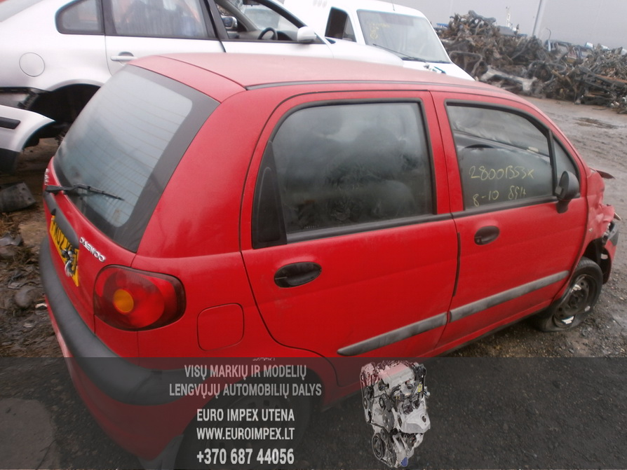 Naudotos automobilio dalys Daewoo MATIZ 2002 0.8 Mechaninė Hačbekas 4/5 d. Raudona 2014-2-10