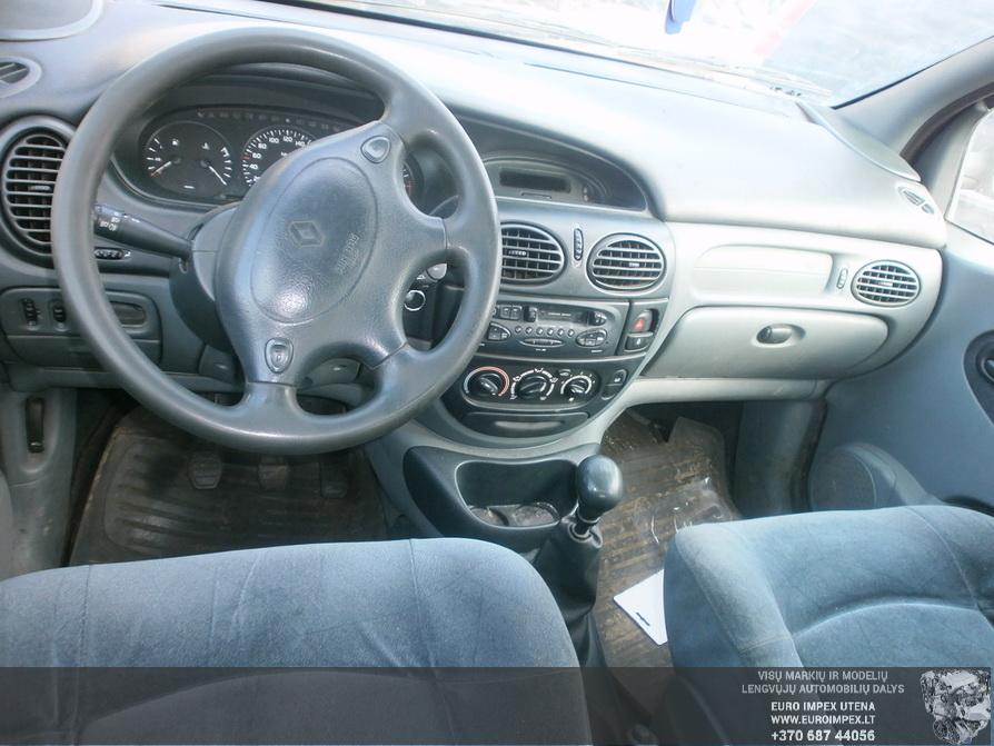 Naudotos automobiliu dallys Foto 4 Renault SCENIC 1998 1.6 Mechaninė Vienatūris 4/5 d. Melyna 2014-2-28 A1376
