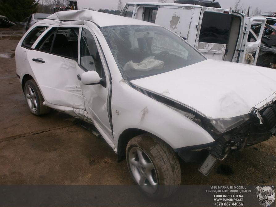 Naudotos automobilio dalys Skoda FABIA 2006 1.4 Mechaninė Universalas 4/5 d. Balta 2014-3-25