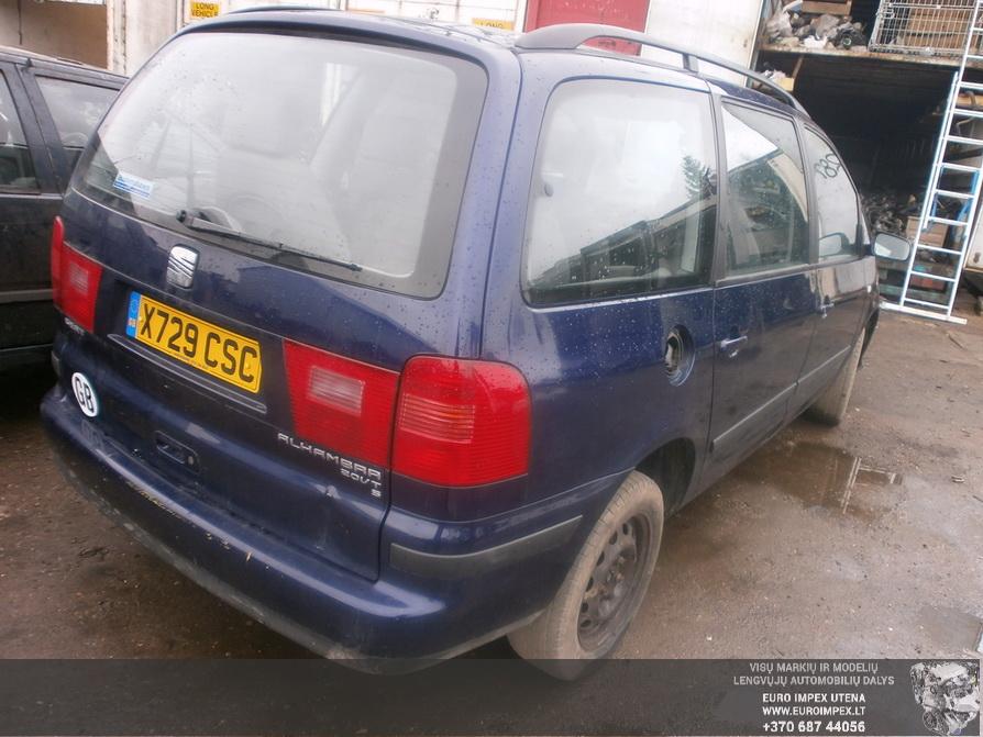 Naudotos automobilio dalys Seat ALHAMBRA 2000 1.8 Mechaninė Vienatūris 4/5 d. Melyna 2014-3-25
