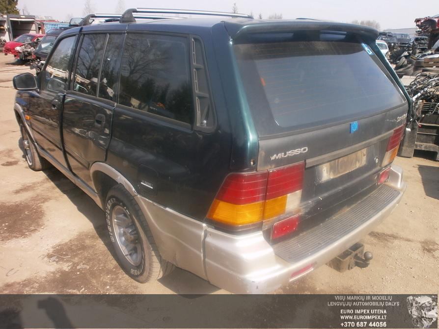 Naudotos automobiliu dallys Foto 5 SsangYong MUSSO 1996 2.9 Mechaninė Visureigis 4/5 d. Žalia 2014-4-03 A1452