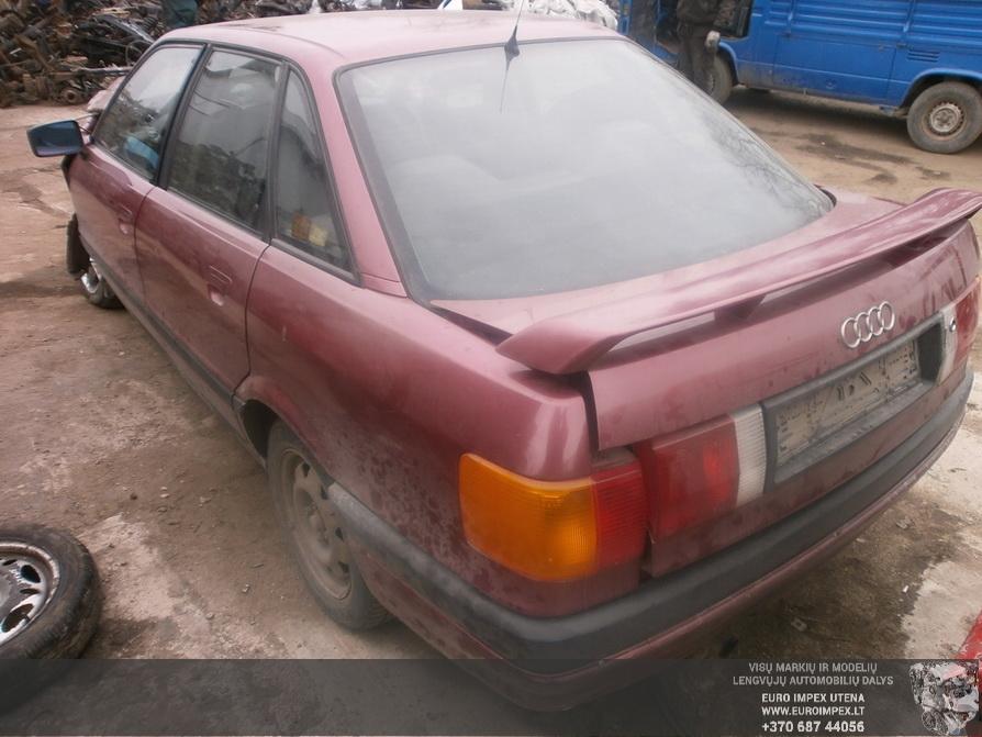 Naudotos automobiliu dallys Foto 7 Audi 80 1991 1.8 Mechaninė Sedanas 4/5 d. Raudona 2014-4-03 A1453