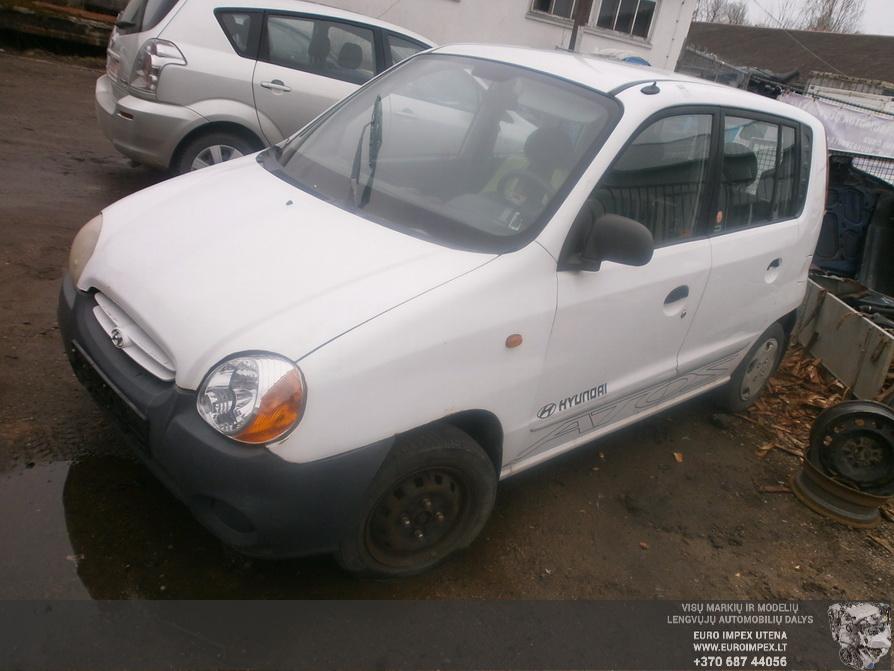 Naudotos automobilio dalys Hyundai ATOS 1999 1.0 Mechaninė Komercinis 4/5 d. Balta 2014-4-08