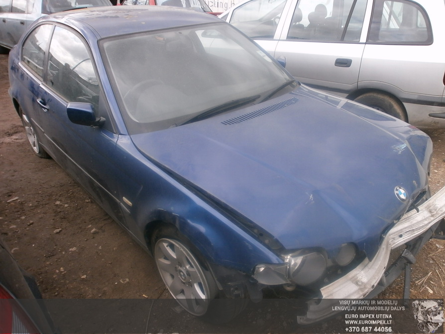 BMW 3-SERIES 2002 1.8 Mechaninė