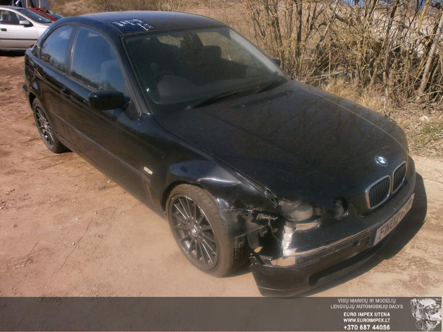 Naudotos automobilio dalys BMW 3-SERIES 2002 1.8 Mechaninė Hačbekas 2/3 d. Juoda 2014-4-17