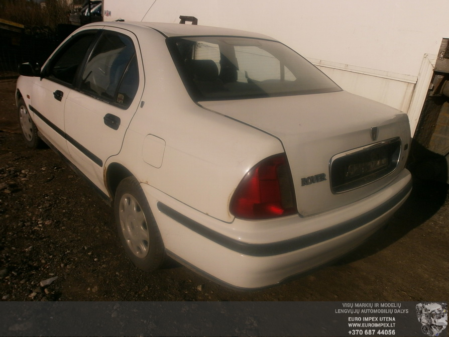 Naudotos automobilio dalys Rover 400-SERIES 1997 1.4 Mechaninė Sedanas 4/5 d. Balta 2014-4-17