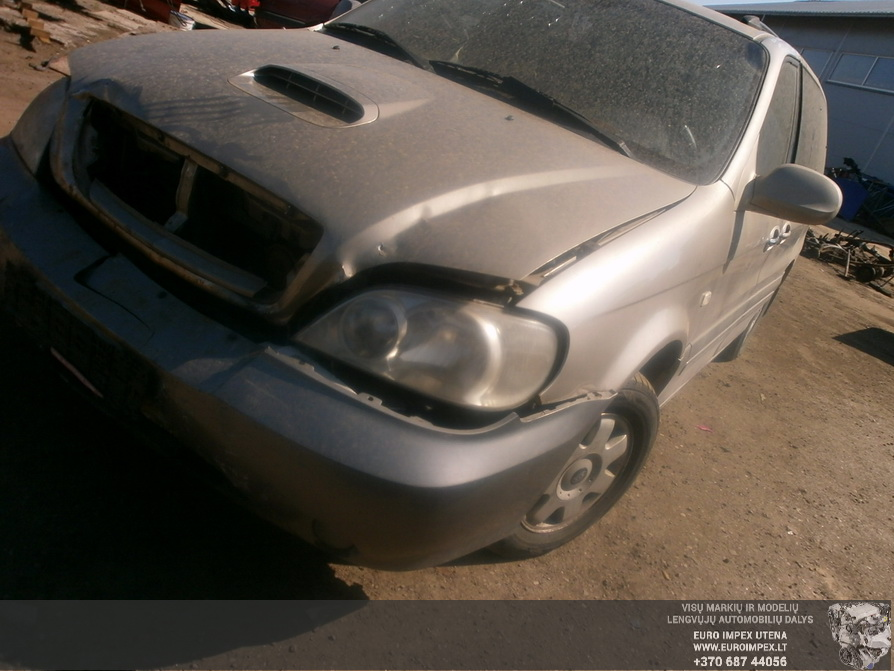 Naudotos automobilio dalys Kia CARNAVAL 2003 2.9 Automatinė Vienatūris 4/5 d. Pilka 2014-4-23