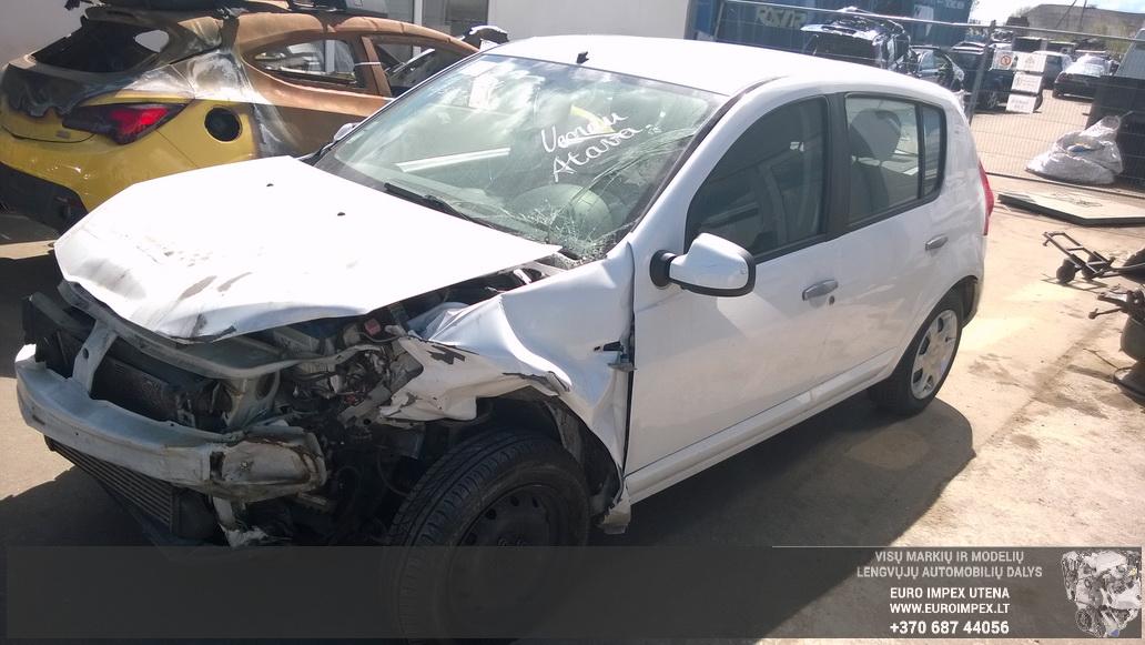 Naudotos automobilio dalys Dacia SANDERO 2009 1.5 Mechaninė Hačbekas 4/5 d. Balta 2014-5-06