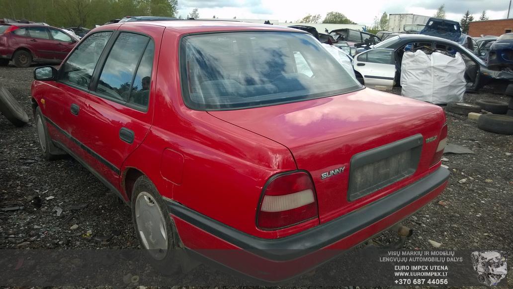 Naudotos automobilio dalys Nissan SUNNY 1992 1.6 Mechaninė Sedanas 4/5 d. Raudona 2014-5-14