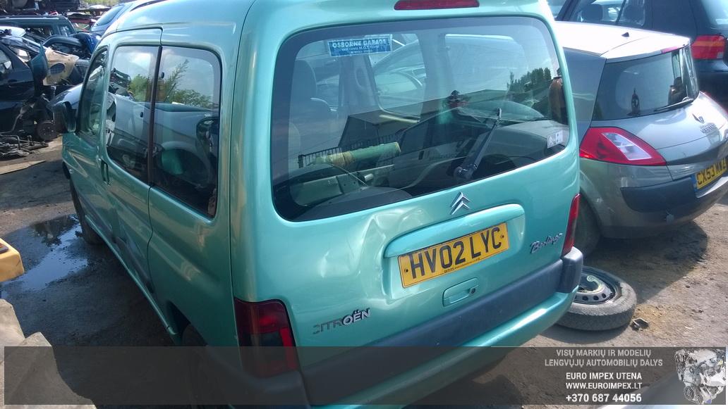 Naudotos automobilio dalys Citroen BERLINGO 2002 1.9 Mechaninė Komercinis 4/5 d. Žydra 2014-5-19