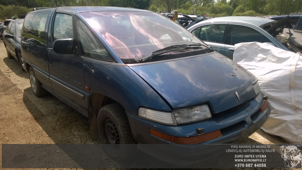 Naudotos automobilio dalys Pontiac TRANS SPORT 1994 2.3 Mechaninė Vienatūris 4/5 d. Melyna 2014-5-22