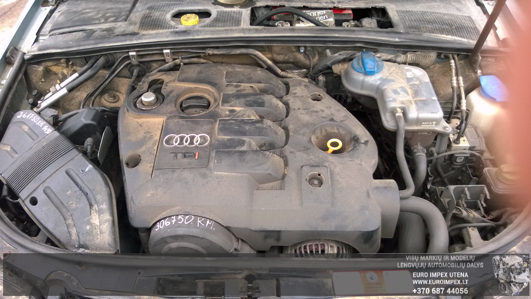 Naudotos automobiliu dallys Foto 8 Audi A4 2003 1.9 Mechaninė Universalas 4/5 d. Žydra 2014-6-02 A1588