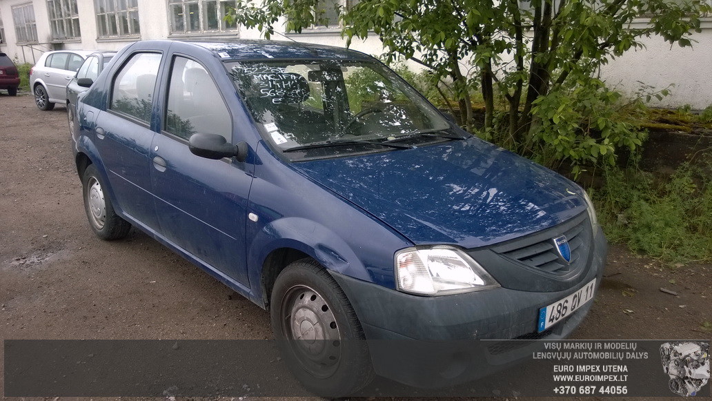 Naudotos automobilio dalys Dacia LOGAN 2005 1.4 Mechaninė Sedanas 4/5 d. Melyna 2014-6-02