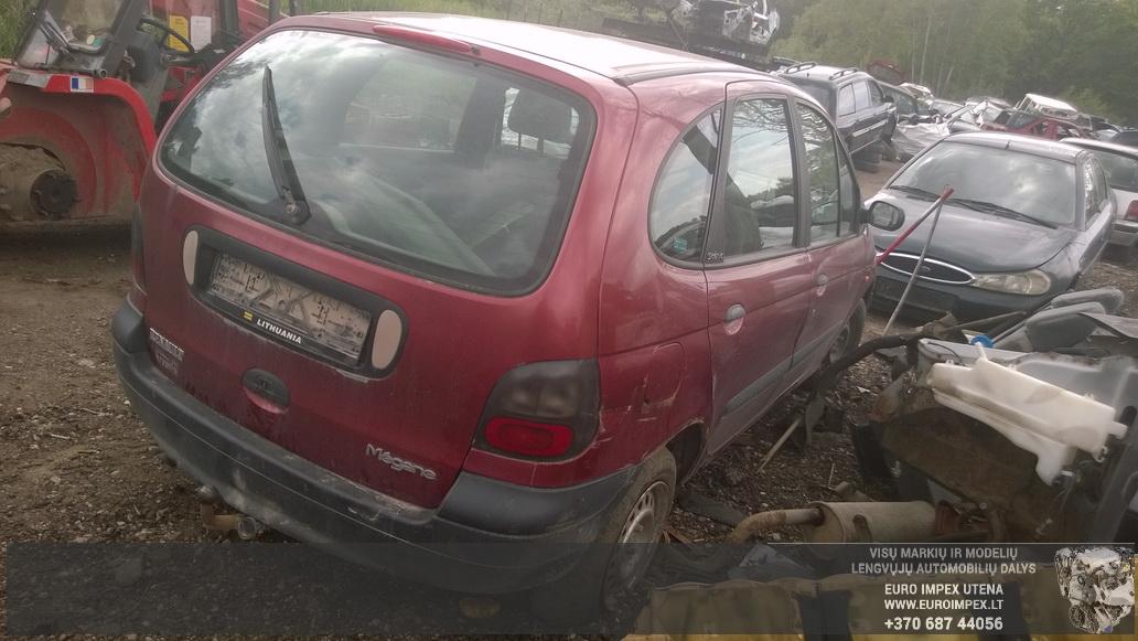 Naudotos automobiliu dallys Foto 6 Renault MEGANE SCENIC 1997 1.6 Mechaninė Vienatūris 4/5 d. Raudona 2014-6-05 A1605