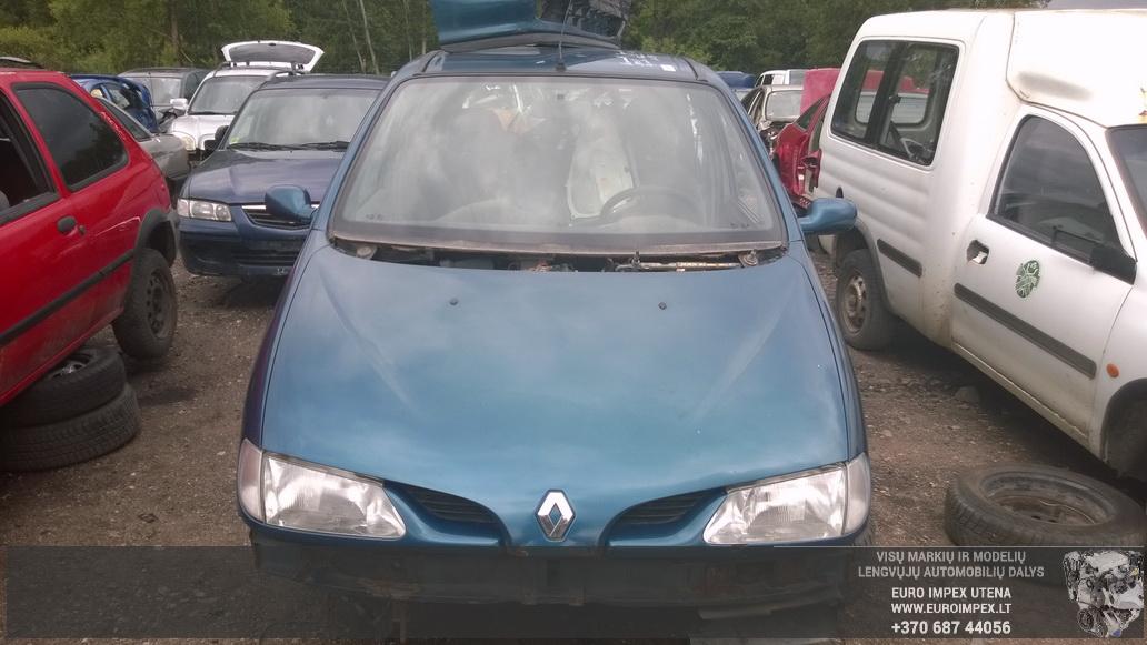 Naudotos automobiliu dallys Foto 2 Renault MEGANE SCENIC 1997 1.9 Mechaninė Vienatūris 4/5 d. Žalia 2014-7-02 A1649
