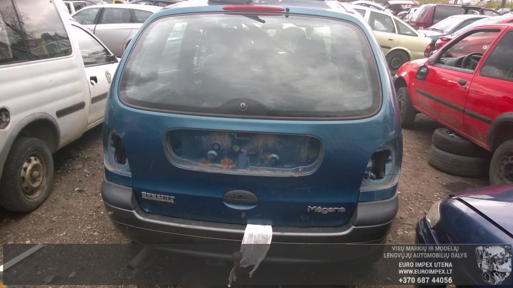 Naudotos automobiliu dallys Foto 5 Renault MEGANE SCENIC 1997 1.9 Mechaninė Vienatūris 4/5 d. Žalia 2014-7-02 A1649