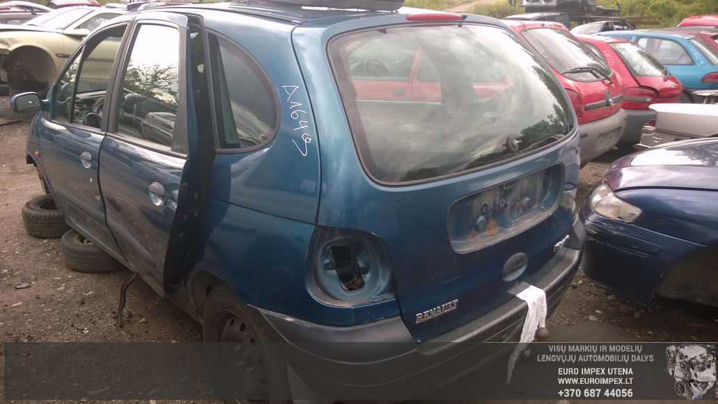 Naudotos automobiliu dallys Foto 6 Renault MEGANE SCENIC 1997 1.9 Mechaninė Vienatūris 4/5 d. Žalia 2014-7-02 A1649