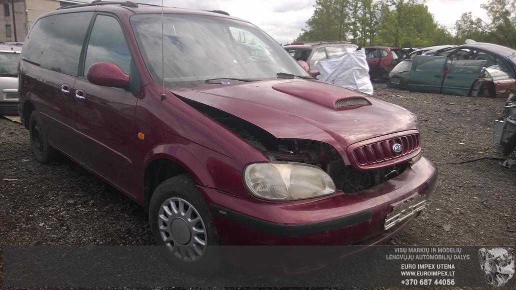 Naudotos automobiliu dallys Foto 3 Kia CARNIVAL 2000 2.9 Automatinė Vienatūris 4/5 d. Raudona 2014-7-03 A1651