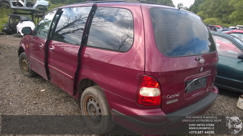 Naudotos automobiliu dallys Foto 7 Kia CARNIVAL 2000 2.9 Automatinė Vienatūris 4/5 d. Raudona 2014-7-03 A1651