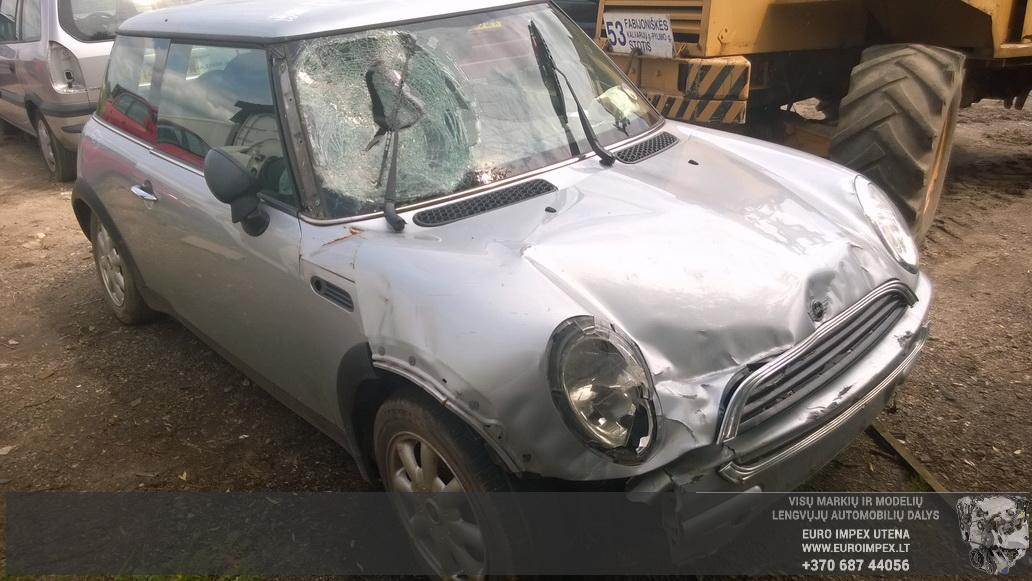 Naudotos automobilio dalys Mini ONE 2002 1.6 Mechaninė Hačbekas 2/3 d. Pilka 2014-7-04