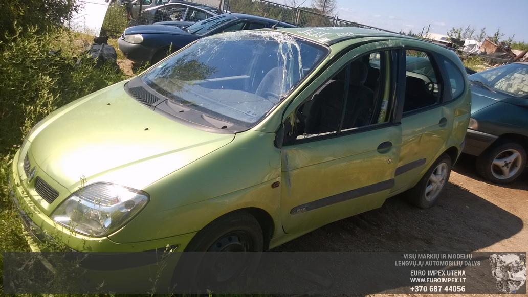 Naudotos automobiliu dallys Foto 1 Renault MEGANE SCENIC 2001 1.6 Mechaninė Vienatūris 4/5 d. Žalia 2014-7-16 A1674