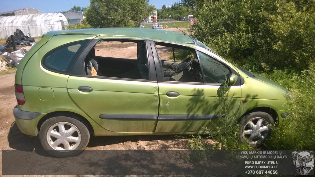 Naudotos automobiliu dallys Foto 3 Renault MEGANE SCENIC 2001 1.6 Mechaninė Vienatūris 4/5 d. Žalia 2014-7-16 A1674
