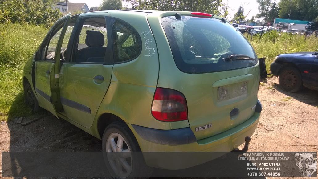 Naudotos automobiliu dallys Foto 6 Renault MEGANE SCENIC 2001 1.6 Mechaninė Vienatūris 4/5 d. Žalia 2014-7-16 A1674