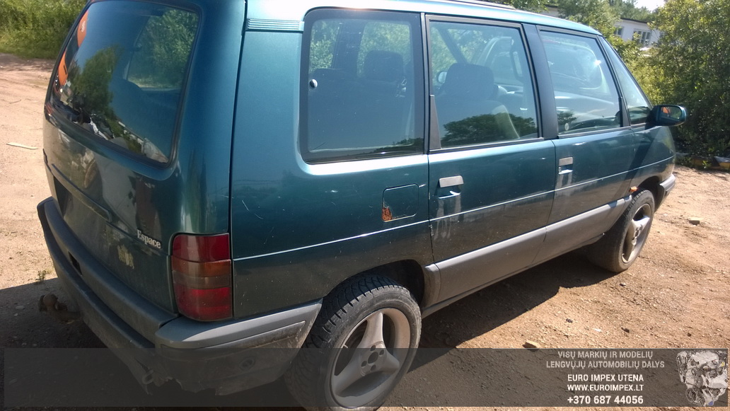 Naudotos automobilio dalys Renault ESPACE 1991 2.2 Mechaninė Vienatūris 4/5 d. Žalia 2014-7-16
