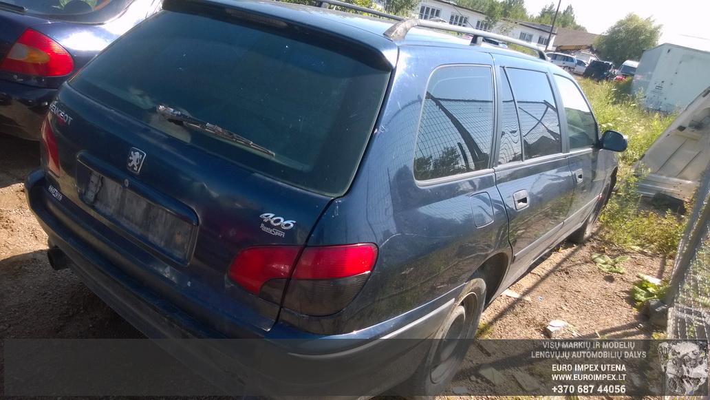 Naudotos automobiliu dallys Foto 5 Peugeot 406 1999 1.9 Mechaninė Universalas 4/5 d. Melyna 2014-7-16 A1679