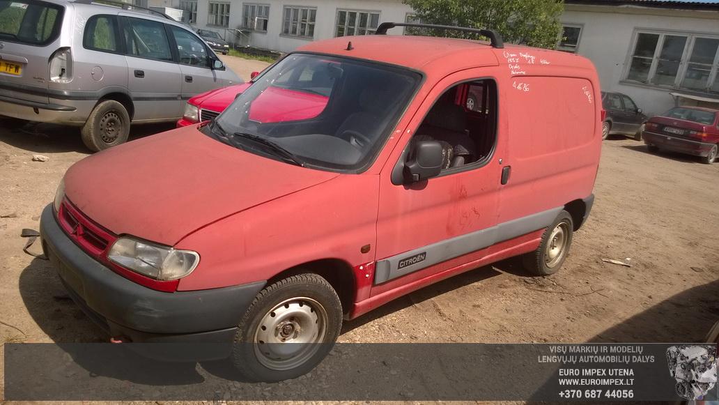 Naudotos automobilio dalys Citroen BERLINGO 1997 1.8 Mechaninė Komercinis 4/5 d. Raudona 2014-7-18
