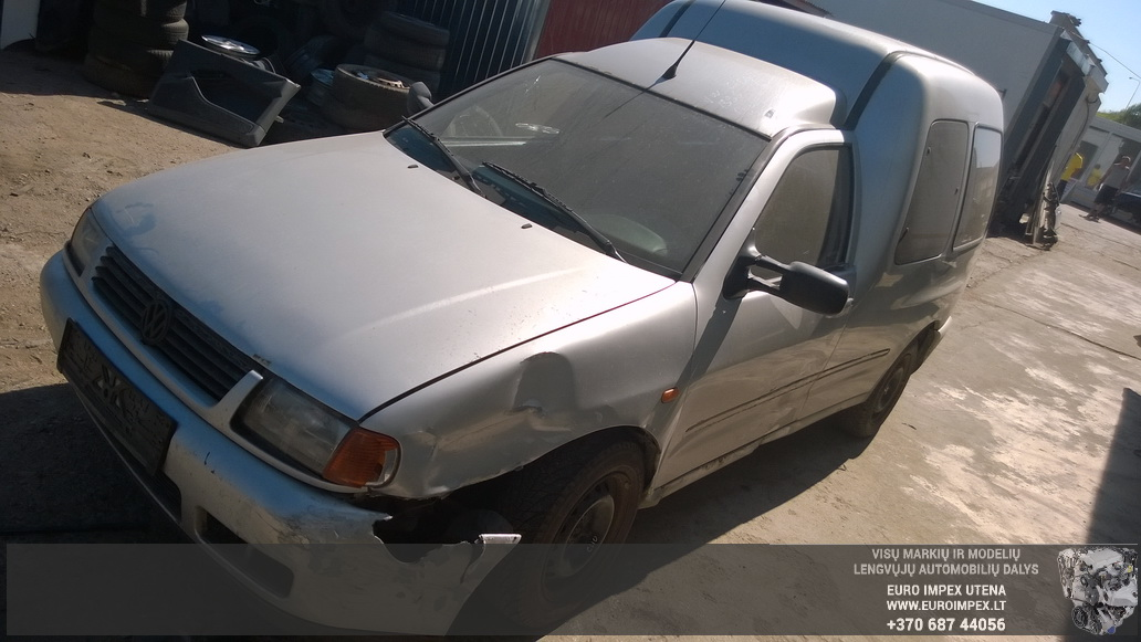 Naudotos automobilio dalys Volkswagen CADDY 1996 1.9 Mechaninė Komercinis 2/3 d. Pilka 2014-7-23
