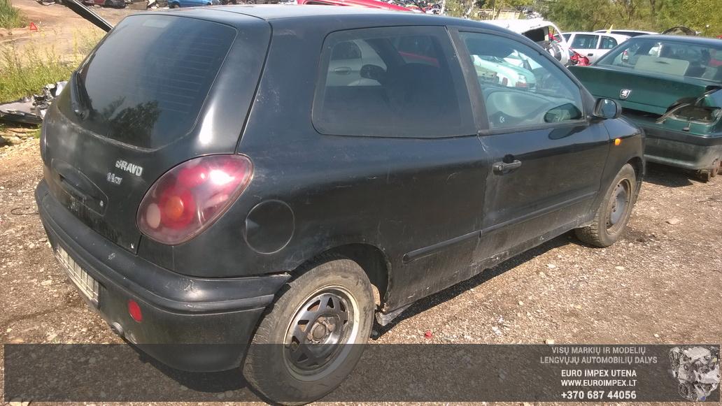 Naudotos automobilio dalys Fiat BRAVO 1995 1.4 Mechaninė Hačbekas 2/3 d. Juoda 2014-8-02