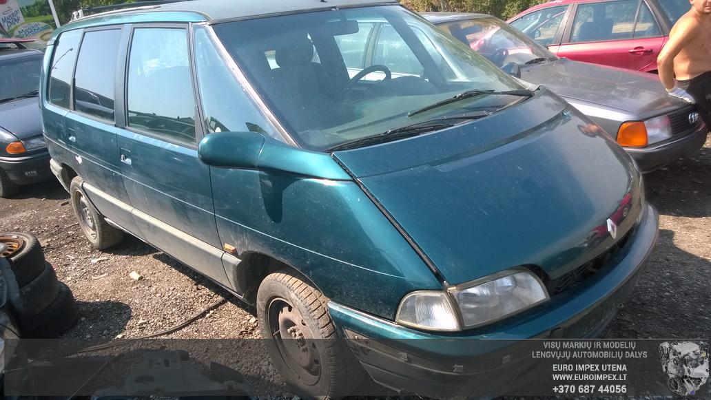 Naudotos automobiliu dallys Foto 3 Renault ESPACE 1993 2.2 Mechaninė Vienatūris 4/5 d. Žalia 2014-8-02 A1715