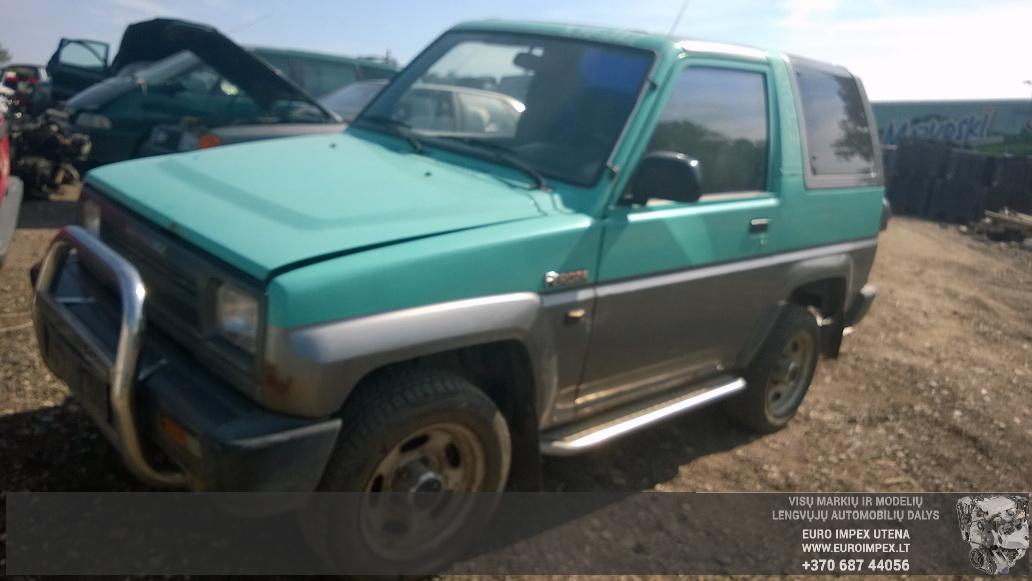 Naudotos automobilio dalys Daihatsu FEROZA 1993 1.6 Mechaninė Visureigis 2/3 d. Žalia 2014-8-05