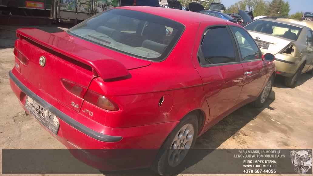 Naudotos automobilio dalys Alfa-Romeo 156 2001 2.4 Mechaninė Sedanas 4/5 d. Raudona 2014-8-05