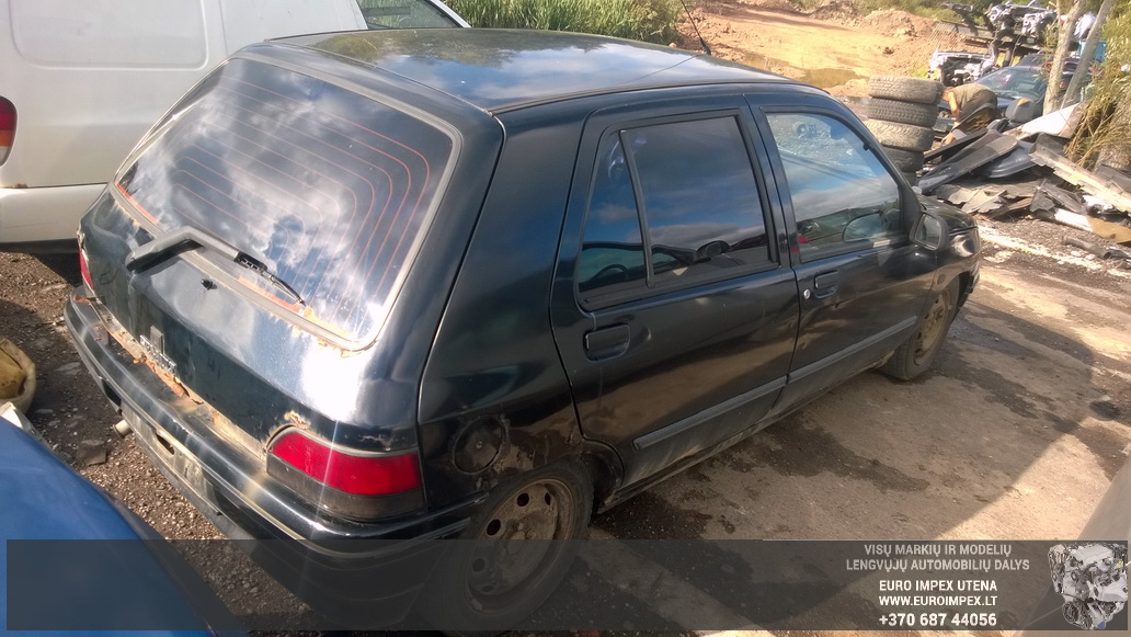 Naudotos automobilio dalys Renault CLIO 1993 1.4 Mechaninė Hačbekas 4/5 d. Juoda 2014-8-19