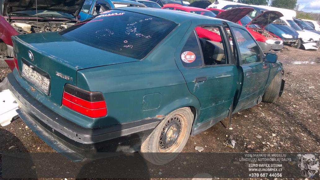 Naudotos automobilio dalys BMW 3-SERIES 1991 2.5 Mechaninė Sedanas 4/5 d. Žalia 2014-8-19