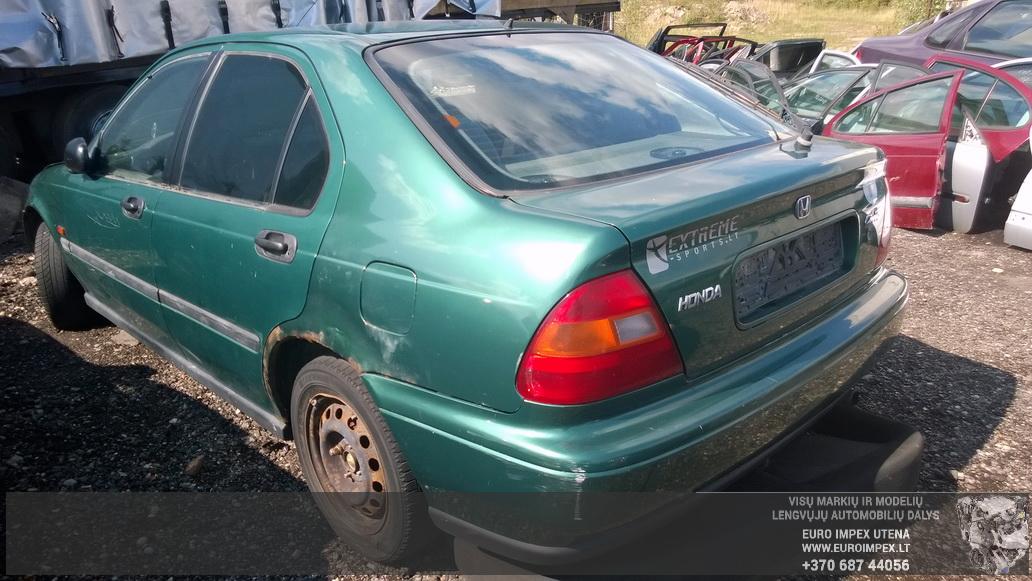 Naudotos automobilio dalys Honda CIVIC 1997 1.6 Mechaninė Hačbekas 4/5 d. Žalia 2014-8-26