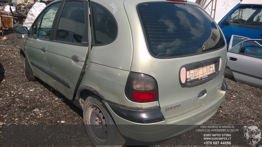 Naudotos automobiliu dallys Foto 7 Renault MEGANE SCENIC 1998 2.0 Mechaninė Vienatūris 4/5 d. Žalia 2014-8-26 A1742